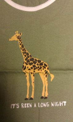 Yeah we know it's not Alaska related...but still it's a cute tank top !  :)    It's Been A Long Night Tank Top Adult size Large - 100% cotton - Giraffe