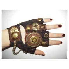 Steampunk DIY Goggles! The Peach Martini ❤ liked on Polyvore featuring gloves, steampunk, accessories, hand and steam punk