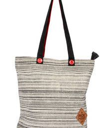 Buy Black  Canvas Tote bag with Patch work tote-bag online