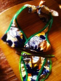 ◆Halterneck bra & shorts set◆ブラは取り外し可能パット入り。ホルタータイプで見せブラに。ショーツ フレンチビキニタイプ◆素...|ハンドメイド、手作り、手仕事品の通販・販売・購入ならCreema。
