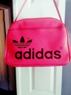 4f9085dda6e7 Vintage Adidas Duffle Bag Shoulder Gym Carry-On 70 s 80 s Firebird Trefoil  Retro