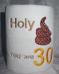 HAHA...30th Birthday Gag Gift  Embroidered Toilet by devonryandesigns, $3.99    someone please get this for me this year!