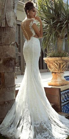 Mermaid Wedding Dresses From Top World Designers ❤ See more: http://www.weddingforward.com/mermaid-wedding-dresses/ #weddings