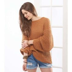 eddf17295d0c36 Free Knitting Pattern for Repeat Sandbar Pullover - This looks super comfy!  Knit with a repeat tuck stitch pattern
