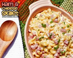 Delicious savory one skillet meal - Ham and Cheese Skillet