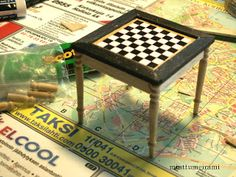Chess table for the library (illustrated step-by-step tutorial) | Source: Minttumeiramin Miniatyyrit