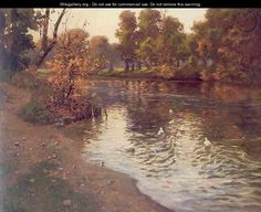 ... paintings related paintings news categories ducks by fritz thaulow
