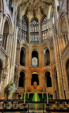 Norwich Cathedral; Norfolk, England. With L. P. Hartley in The Go-Between.