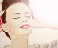 makijaż w stylu pin up girl