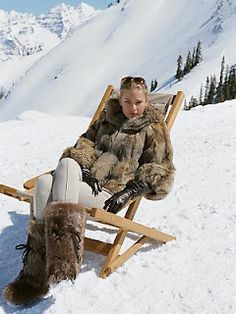 apres ski apparel - take all of it in faux fur with a side of major confidence, thanks.