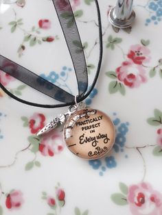 Mary Poppins Quote Pendant  Practically by TwinkleTwitCrafts, £8.00