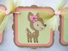 woodland animal baby shower | Forest animals, woodland animals baby shower banner, its a girl