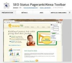 Une extension Chrome pour voir le Page Rank et l'indice Alexa des pages Web, SEO Status