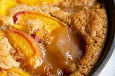 The classic Bisquick Peach Cobbler recipe, revamped with fresh peaches and brown sugar. Original recipe is also included! Cake Mix Peach Cobbler, Peach Cobbler With Bisquick, Gluten Free Peach Cobbler, Pear Cobbler, Cobbler Recipe, Fruit Recipes, Cooking Recipes, Canned Pears, Gluten Free Deserts