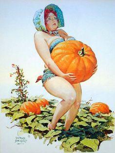 I carried a Pumpkin.  Hilda by Duane Bryers