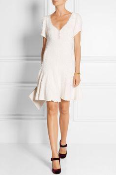 Ryan Lo | Crystal-embellished textured stretch-knit mini dress | NET-A-PORTER.COM