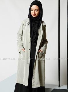 islamische kleidung fuer frauen mymodestystyle.com besuchen sie unsere shop #hijab #abayas #tuekische kleider #abendleider #islamischekleidung  Grippered Topcoat - Green - Refka - <p>Fabric Info:</p> <p>70% Modal</p> <p>30% Polyester</p> <br> <p>Unlined</p> <p>Weight: 0.416 kg</p> <p>Measures of 38 size:</p> <p>Height: 109 cm</p> <p>Bust: 104 cm</p> <p>Waist: 102 cm</p> <p>Hips: 112 cm</p> - SKU: 198372. Buy now at http://muslimas-shop.com/grippered-topcoat-green-refka.html
