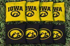 Cornhole All Weather Bag Set - University of Iowa Hawkeyes