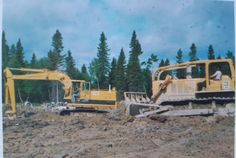 Pipeline Construction, Caterpillar Equipment, Fort Mcmurray, Heavy Equipment, Drill, Industrial, Cabin, House Styles, Hole Punch