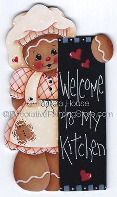 The Decorative Painting Store: Welcome to My Kitchen ePattern by Pamela House… Gingerbread Ornaments, Gingerbread Decorations, Christmas Gingerbread, Christmas Decorations, Christmas Ornaments, Tole Painting Patterns, Pintura Country, Country Paintings, Christmas Printables