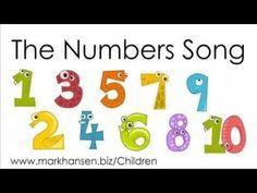 Counting Songs for Children 1-10 Numbers Song Kids Toddlers Kindergarten Preschoolers Number Animal - YouTube