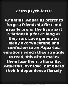 astro psych-facts: Aquarius