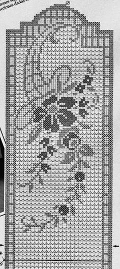 Crochet And Arts: Filet Crochet Wipes - maallure Crochet Table Runner Pattern, Crochet Tablecloth, Filet Crochet Charts, Crochet Borders, Crochet Home, Diy Crochet, Crochet Ideas, Thread Crochet, Crochet Stitches