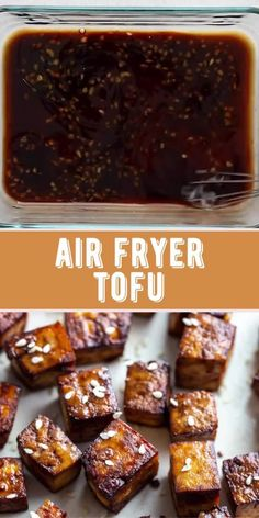 This Air Fryer Tofu comes together with just 5 simple ingredients! It's deliciously crispy and so versatile for whatever dish you're serving it with. Best Tofu Recipes, Air Fryer Recipes Vegan, Fall Recipes, Mexican Food Recipes, Vegan Recipes, Twisted Recipes, Korean Street Food, Base Foods, No Cook Meals