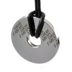 GRAVUR ARTIKEL – Kettenanhänger Rund mit Ihrer Namensgravur – Edelstahl – Von INTERNATIONAL CONNECTION | Your #1 Source for Jewelry and Acce...