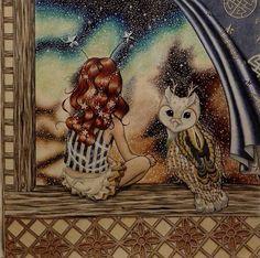Daris Song's The Time Chamber - Girl & Owl