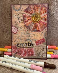 Tim Holtz Dies, Tim Holtz Stamps, Paper Art Projects, Distress Markers, Stamping, Have Fun, Shapes, Create, Instagram