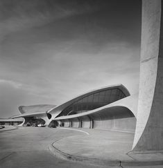 TWA Terminal at Idlewild (now JFK) Airport, Eero Saarinen, New York, NY, 1962, Gelatin Silver Print, © Ezra Stoller, Courtesy Yossi Milo Gallery, New York