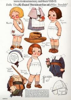 vintage Paper Dolls #printable I loves these as a kid!