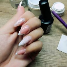 Ultimate Stiletto Style Sparkling Manicure #Frenchmanicure
