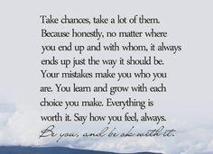 Take Chance, Take A Lot Of Them