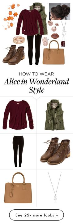 """Fall Colors"" by bzhflick on Polyvore featuring River Island, Hollister Co., Prada, Henri Bendel, Kate Spade, Lime Crime, Viktor & Rolf and Essie"