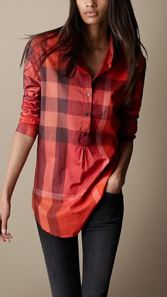Burberry Brit red check
