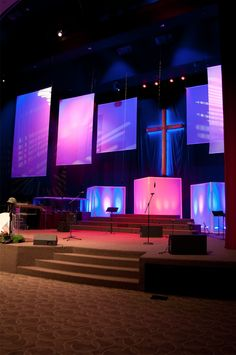 panels of color - Small Church Stage Design Ideas