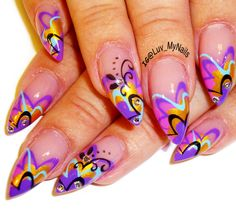 Nail Art From The Nails Magazine Gallery Airbrushed Swirls Abstract