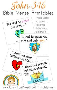 John 3:16 Bible Verse Printables