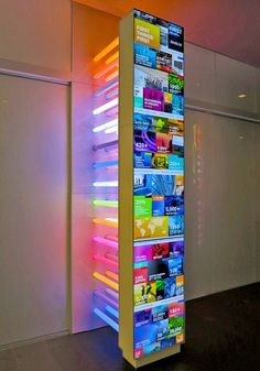 NYC Headquarters Features Interactive Multitouch Table and Column.Bloomberg's NYC Headquarters Features Interactive Multitouch Table and Column. Interactive Walls, Interactive Display, Interactive Design, Stand Design, Display Design, Booth Design, Wall Design, Design Design, Wayfinding Signage