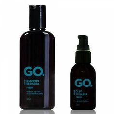 O Kit Shampoo + Óleo para barba Fresh Go. pode ser usado em todos os tipos de barba e de pele, auxiliando no condicionamento e no brilho natural dos fios. Esse Kit proporciona um ótimo resultado.