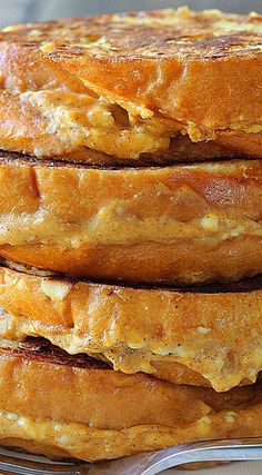 Pumpkin Cream Cheese French Toast