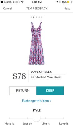 Loveappella Carlita Knit Maxi Dress. I love Stitch Fix! A personalized styling service and it's amazing!! Simply fill out a style profile with sizing and preferences. Then your very own stylist selects 5 pieces to send to you to try out at home. Keep what you love and return what you don't. Only a $20 fee which is also applied to anything you keep. Plus, if you keep all 5 pieces you get 25% off! Free shipping both ways. Schedule your first fix using the link below! #stitchfix @stitchfix…