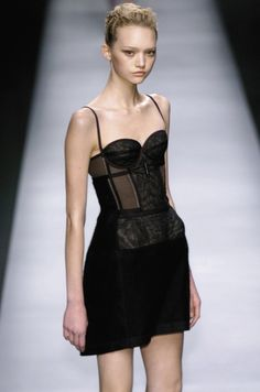 r. (@hedislaurent) / Twitter Runway Fashion, Fashion Models, High Fashion, Fashion Show, Fashion Design, Skinny Inspiration, Gemma Ward, Bustier Dress, Fashion Blogger Style