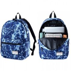 School Fashion Backpack Unisex Bag Galaxy Stylish Shoulder Girls Canvas Rucksack…