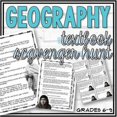 This resource is intended to be used at the beginning of the year to introduce your students to their Geography or World Cultures textbook. I've included two versions of this resource. One version is a generic version which may be used with any Geography textbook. The second version I use with the M...
