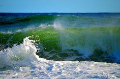 """Emerald #Wave Art"" by Dianne Cowen (@native0605) #CoastalArt #seascape"