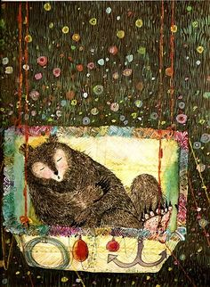 Our Sketchbook: Brian Wildsmith - Children s Illustrator. Love the sleeping bear! Art And Illustration, Art Plastique, Book Art, Sketches, Drawings, Artwork, Bears, Children's Books, Sleepy Bear