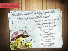 awwww Winnie the Pooh Baby Shower Invitation! Super cute!